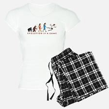 evolution female handball player comic Pajamas