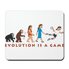 evolution female handball player comic Mousepad