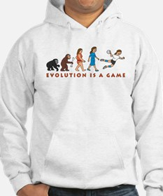evolution female handball player comic Hoodie