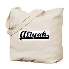 Black jersey: Aliyah Tote Bag