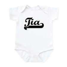 Black jersey: Tia Infant Bodysuit