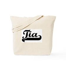 Black jersey: Tia Tote Bag