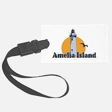 Amelia Island - Lighthouse Design. Luggage Tag