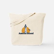 Amelia Island - Lighthouse Design. Tote Bag