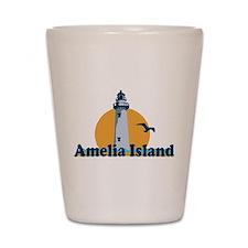 Amelia Island - Lighthouse Design. Shot Glass