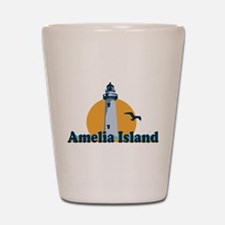 Amelia Island - Lighthouse Design. Shot Glass