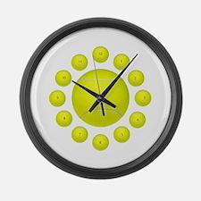 Unique Balls Large Wall Clock