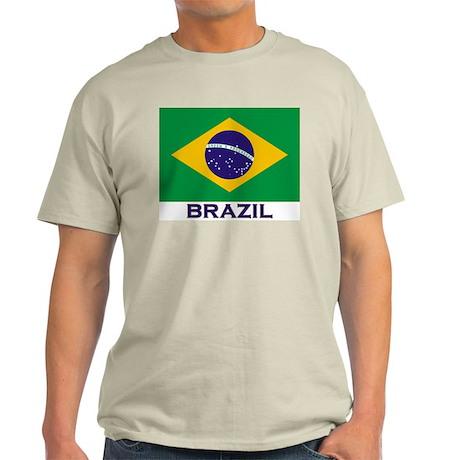 Brazil Flag Stuff Ash Grey T-Shirt