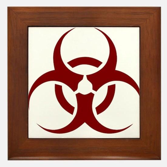 biohazard outbreak design Framed Tile