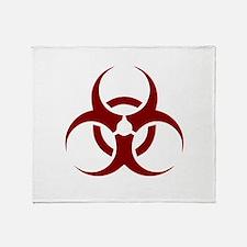 biohazard outbreak design Throw Blanket