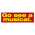 Gee See a Musical. Bumper Sticker (50 pk)