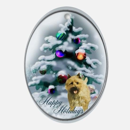 Cairn Terrier Christmas Oval Ornament