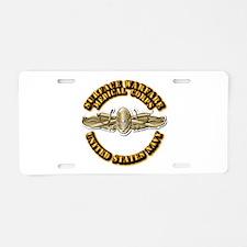Navy - Surface Warfare - MC Aluminum License Plate