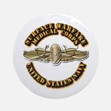 Navy - Surface Warfare - MC Ornament (Round)