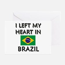 I Left My Heart In Brazil Greeting Cards (Package