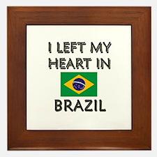 I Left My Heart In Brazil Framed Tile