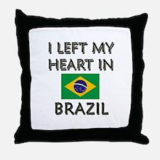 I Left My Heart In Brazil Throw Pillow