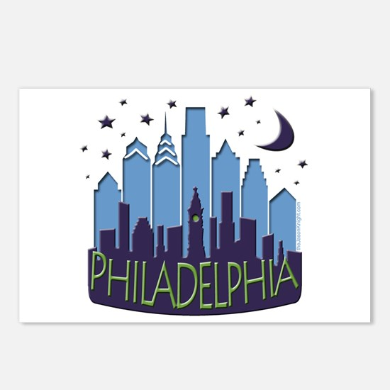 Philly Skyline Mega Cool Postcards (Package of 8)