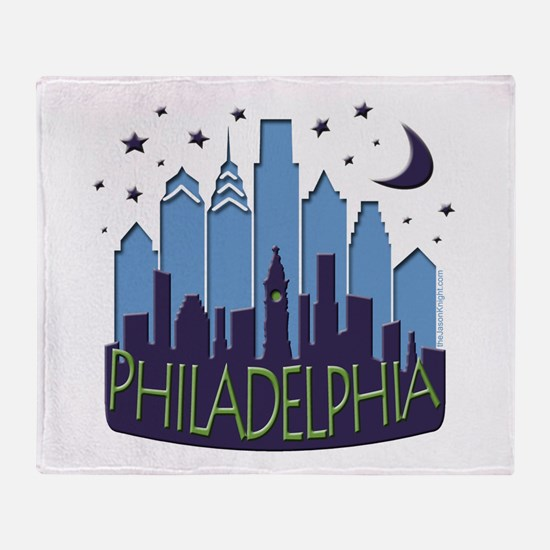 Philly Skyline Mega Cool Throw Blanket