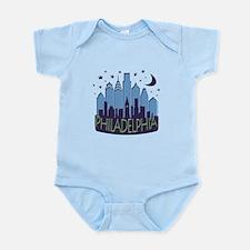 Philly Skyline Mega Cool Infant Bodysuit