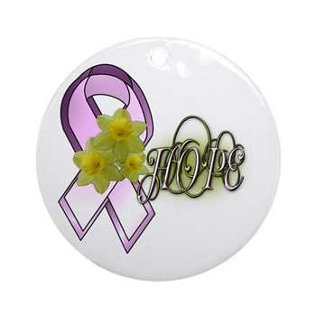HOPE - Breast Cancer Awarenes Ornament (Round)