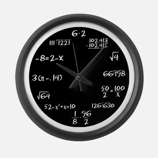 Cute Find x funny geometry math Large Wall Clock
