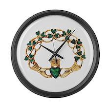 Emerald Claddagh Large Wall Clock