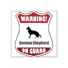 Shepherd On Guard Rectangle Sticker