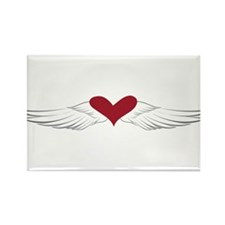 Angel Heart Rectangle Magnet