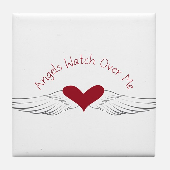 Angels Watch Tile Coaster