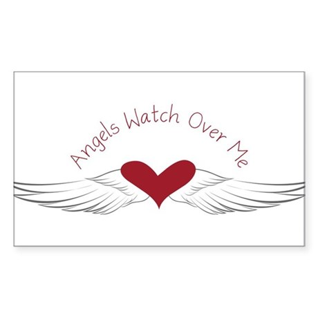 Angels Watch Sticker (Rectangle)
