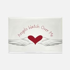 Angels Watch Rectangle Magnet