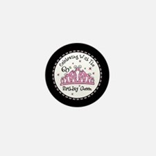 Tiara 60th Birthday Queen CW Mini Button (10 pack)
