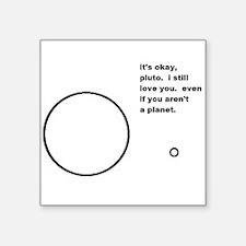 "Interplanetary Love Story Square Sticker 3"" x 3"""