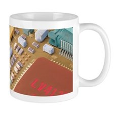 Circuit board of a digital camera, SEM - Mug