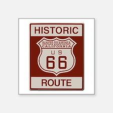 "Rancho Cucamonga Route 66 Square Sticker 3"" x 3"""