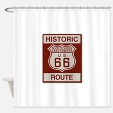 Rancho Cucamonga Route 66 Shower Curtain