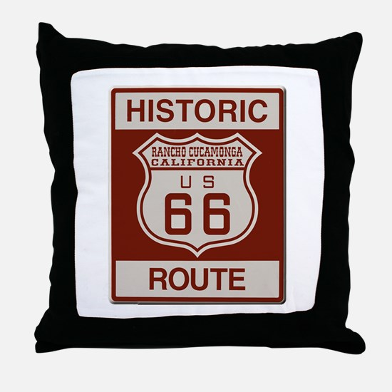 Rancho Cucamonga Route 66 Throw Pillow