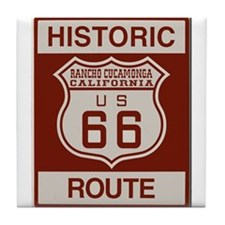 Rancho Cucamonga Route 66 Tile Coaster