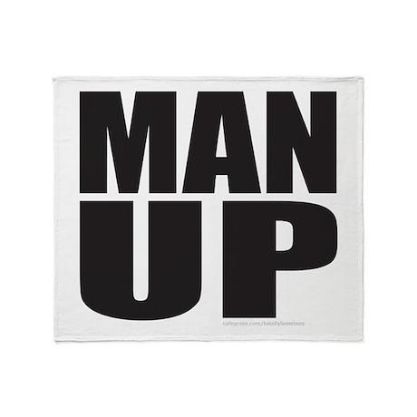 MAN UP Throw Blanket