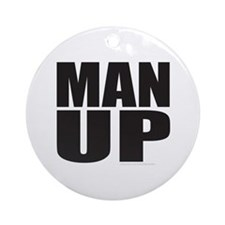 MAN UP Ornament (Round)