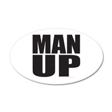 MAN UP Wall Decal