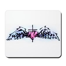 heart and wings Mousepad