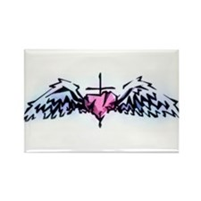 heart and wings Rectangle Magnet