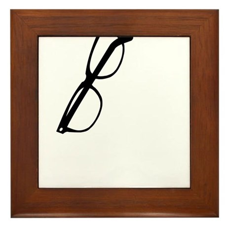How are your glasses hangin? Framed Tile