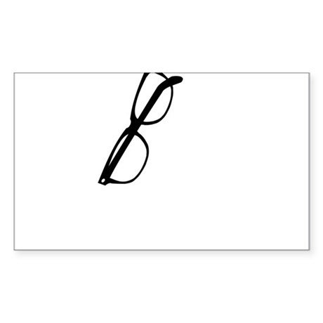How are your glasses hangin? Sticker (Rectangle)