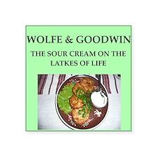 "wolfe Square Sticker 3"" x 3"""