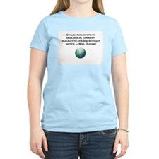 Civilization exists by geological consent T-Shirt