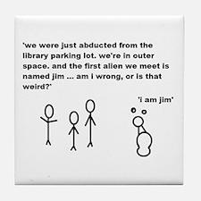 Jim the Alien Tile Coaster