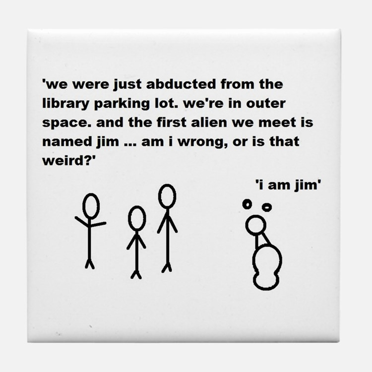 Jim the Alien Tile Coaster